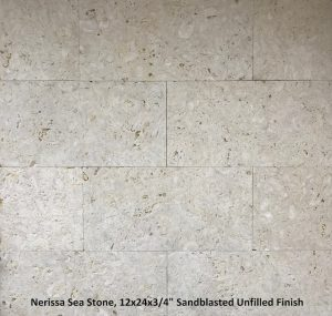 Nerissa Sea Stone 12x24 Tiles Sandblasted Unfilled