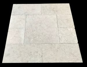 Oyster Grey Sandblasted 3 pc Pharos Ptrn 12x12, 12x24, 24x24 black