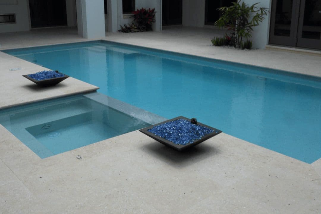 Atlantic Shell Stone Honed Unfilled Pool Deck With Bn Coping Slide