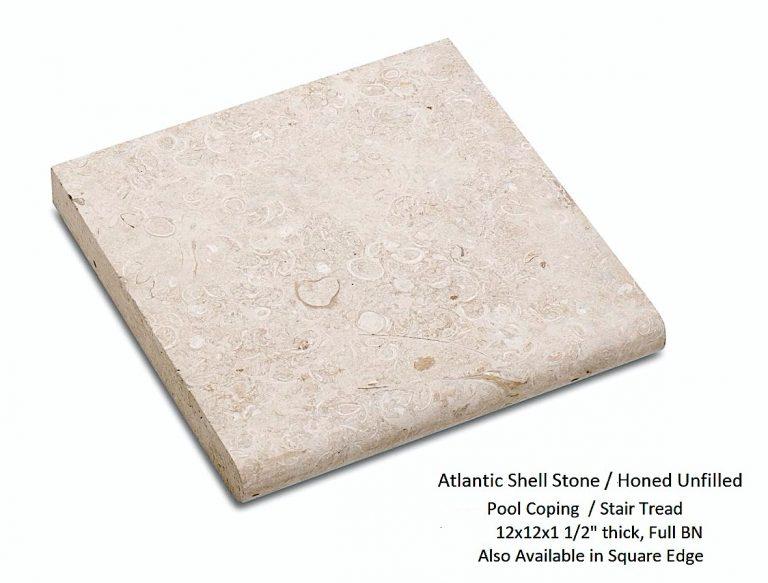 Atlantic Shell Stone, Pool Coping, Stair Tread