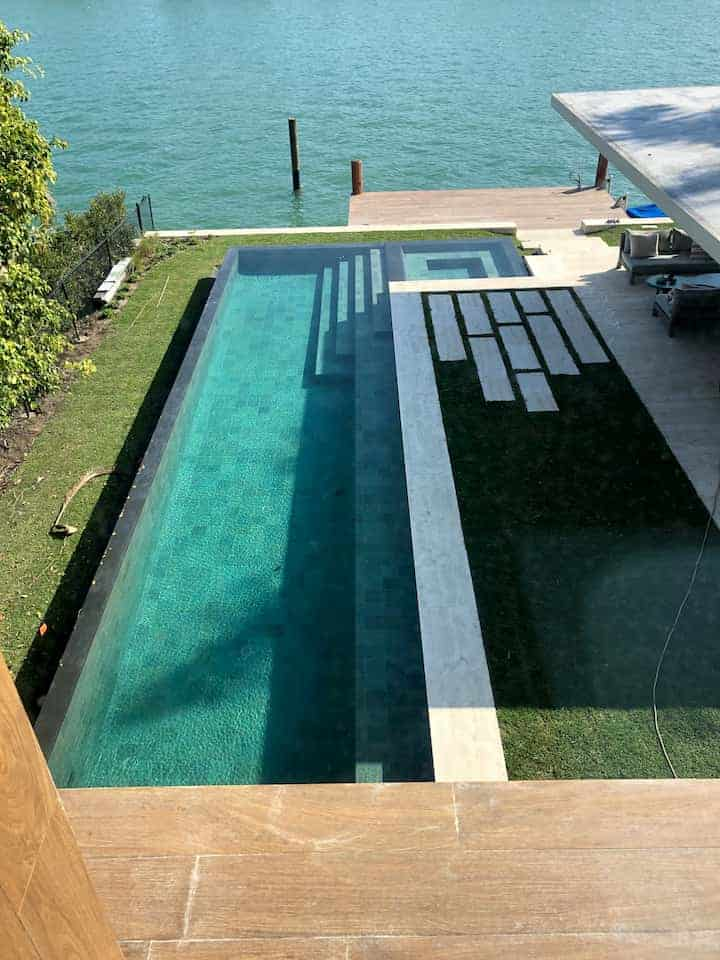Bali Green Submersible Stone, Miami Beach Install #4, 2018 2019
