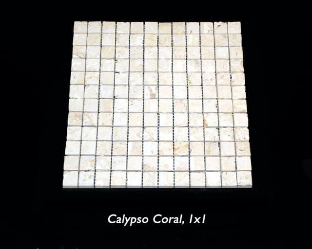 Calypso Coral 1x1 Saw Cut Mosaic