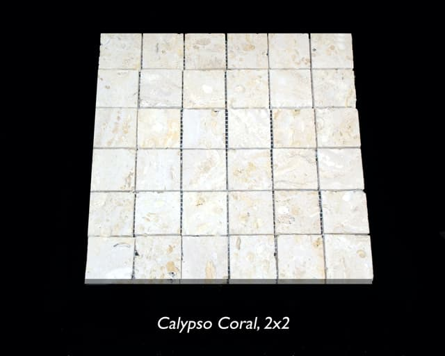 Calypso Coral 2x2 Saw Cut Mosaic