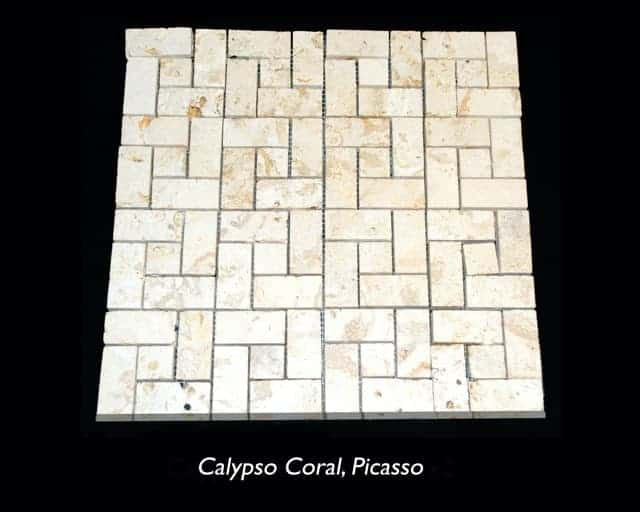Calypso Coral Picasso Saw Cut Mosaic