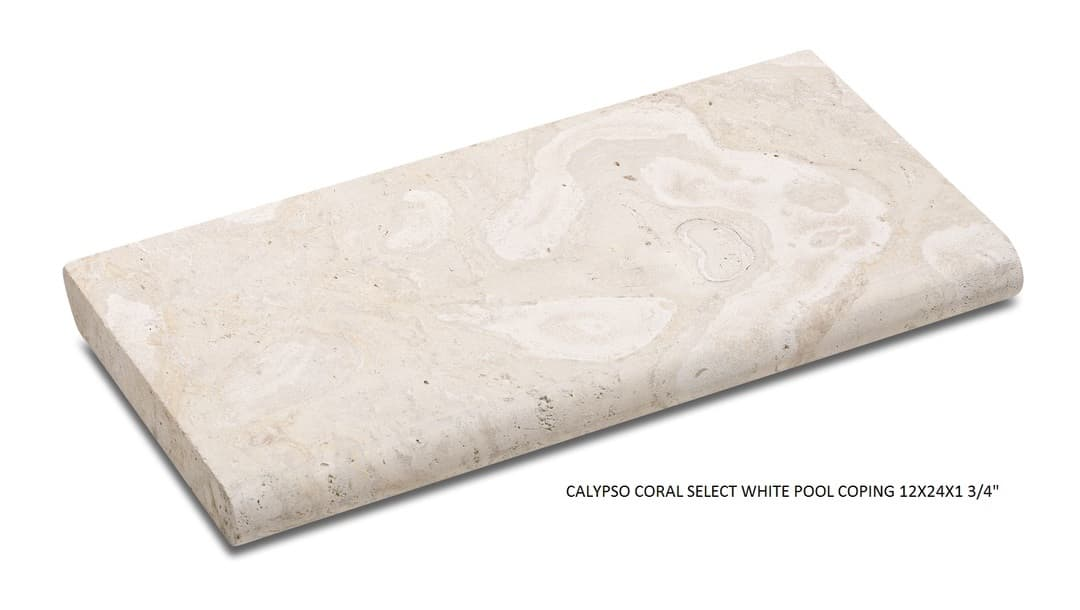 Calypso Coral Select White 12x24 Pool Coping 05 2015