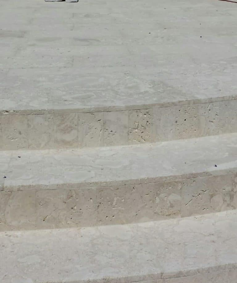 Calypso Coral Select White, Saw Cut, Steps And Landing
