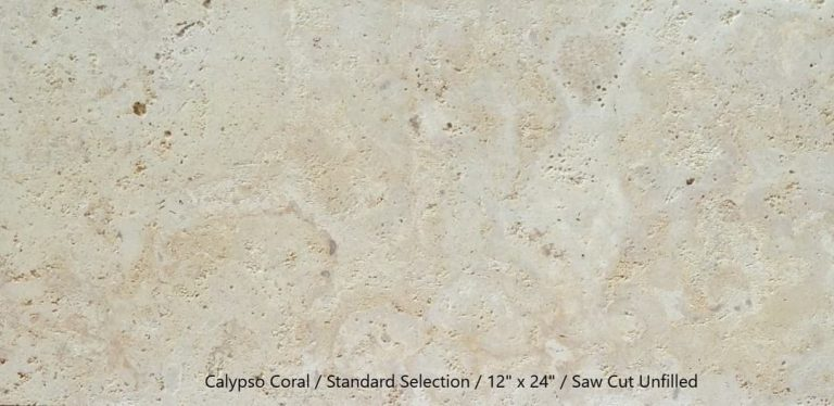 Calypso Coral Standard 12x24 Saw Cut Unfilled