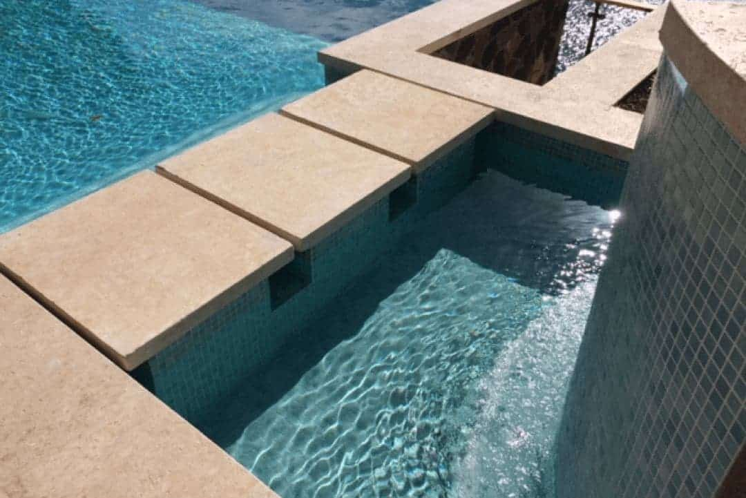 Calypso Coral Standard Pool Coping And Stepping Stones Slide