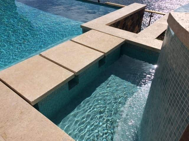 Calypso Coral Standard Pool Coping And Stepping Stones