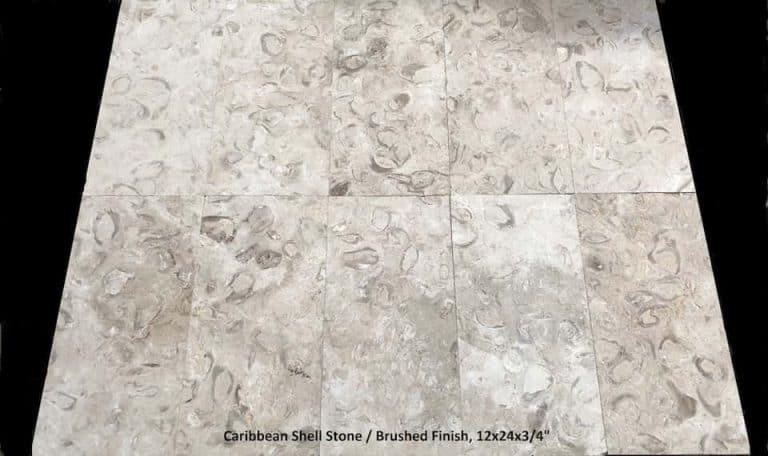 Caribbean Shell Stone Brushed 12x24