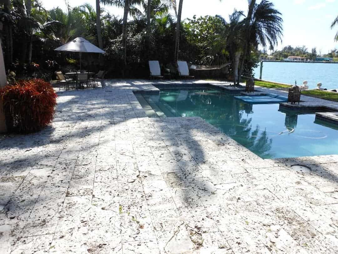 Classic Premium Keystone Pool Deck 12x24x2, Aged