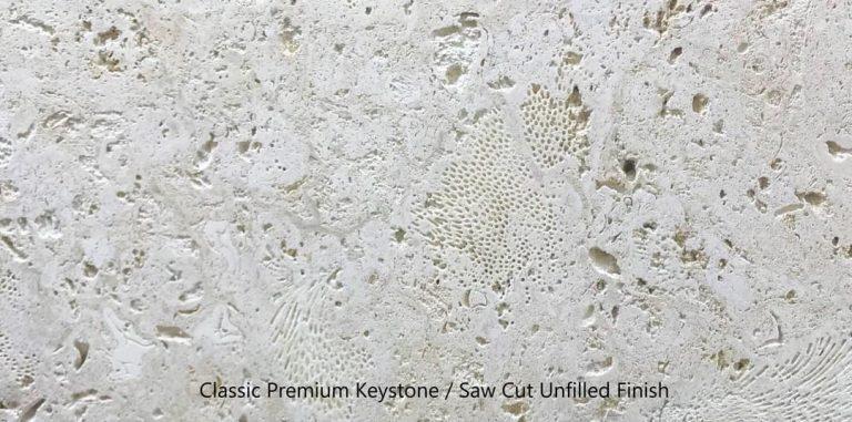 Classic Premium Keystone, Saw Cut Unfilled Finish