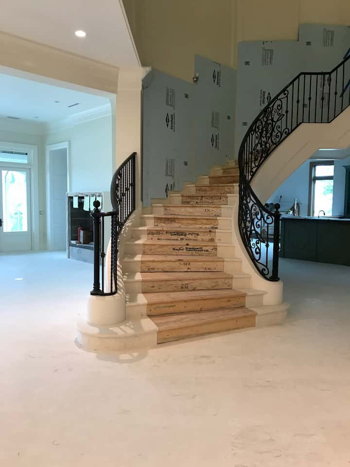 Coral Reef White Honed & Filled Flooring