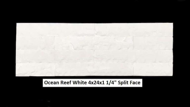 Ocean Reef White 4x24x1.25 Split Face