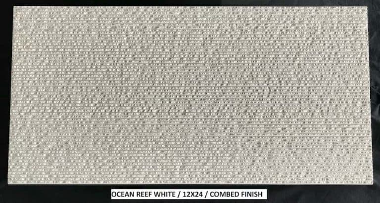 Ocean Reef White Combed Finish 12x24 Copy