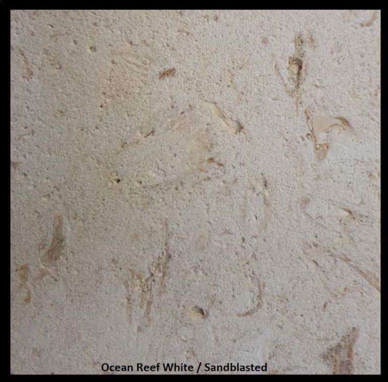 Ocean Reef White, Sandblasted Finish, 2019