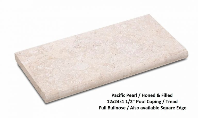 Pacific Pearl 12x24 Pool Coping Stair Tread