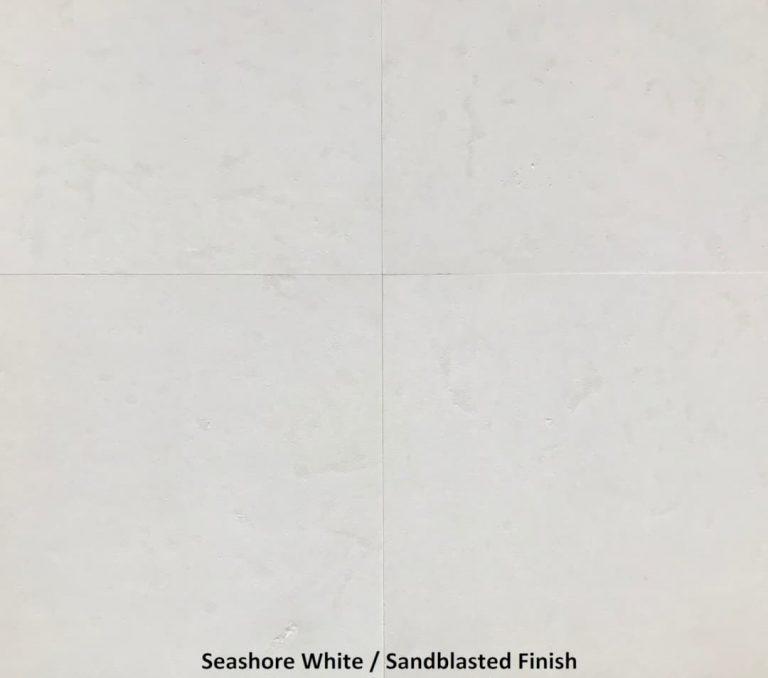 Seashore White 24x24 Sandblasted