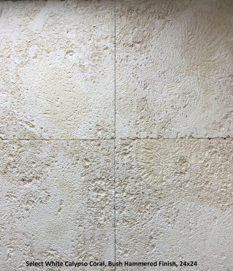 Select White Calypso Coral Bush Hammered Finish, 24x24