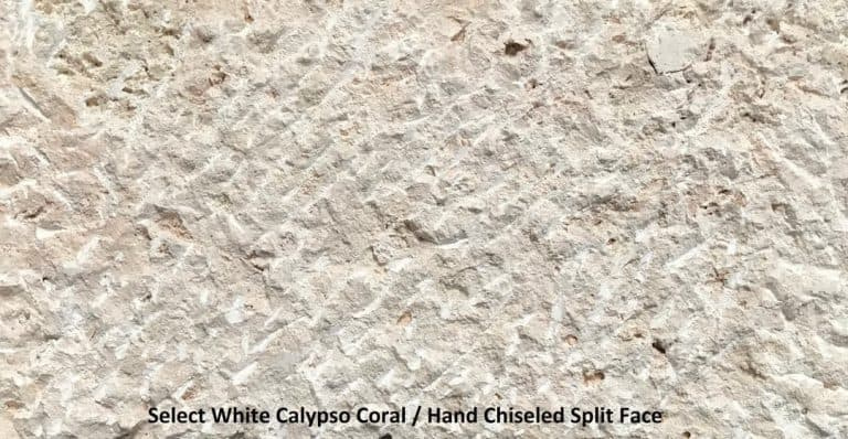 Select White Calypso Coral Hand Chiseled Split Face