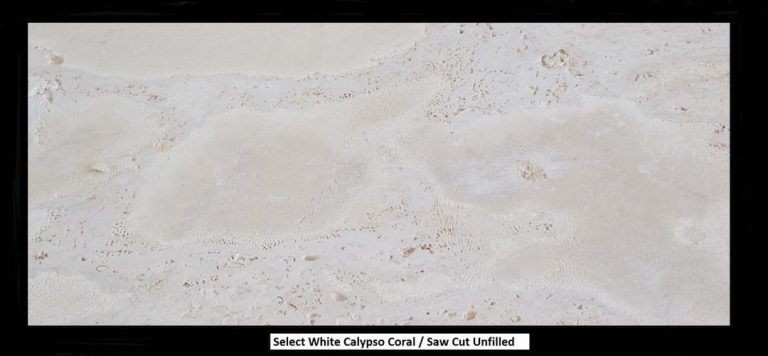 Select White, Calypso Coral, Saw Cut Unfilled