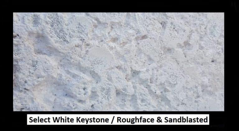 Select White Keystone Roughface & Sandblasted