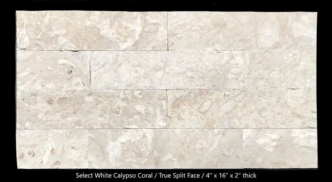Select White True Split Face 4x16x1.75 Loose Bricks