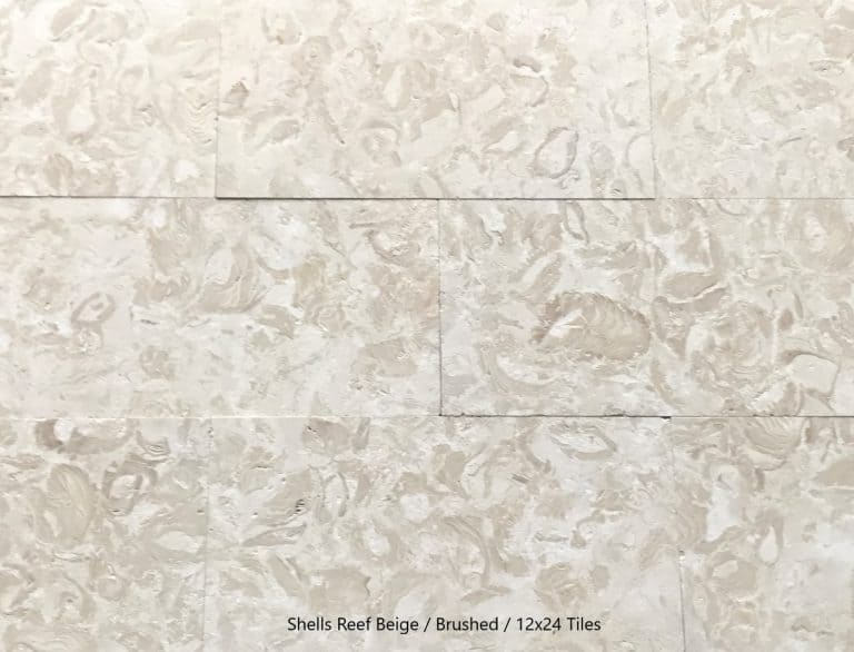 Shells Reef Beige, Brushed, 12x24 Tiles