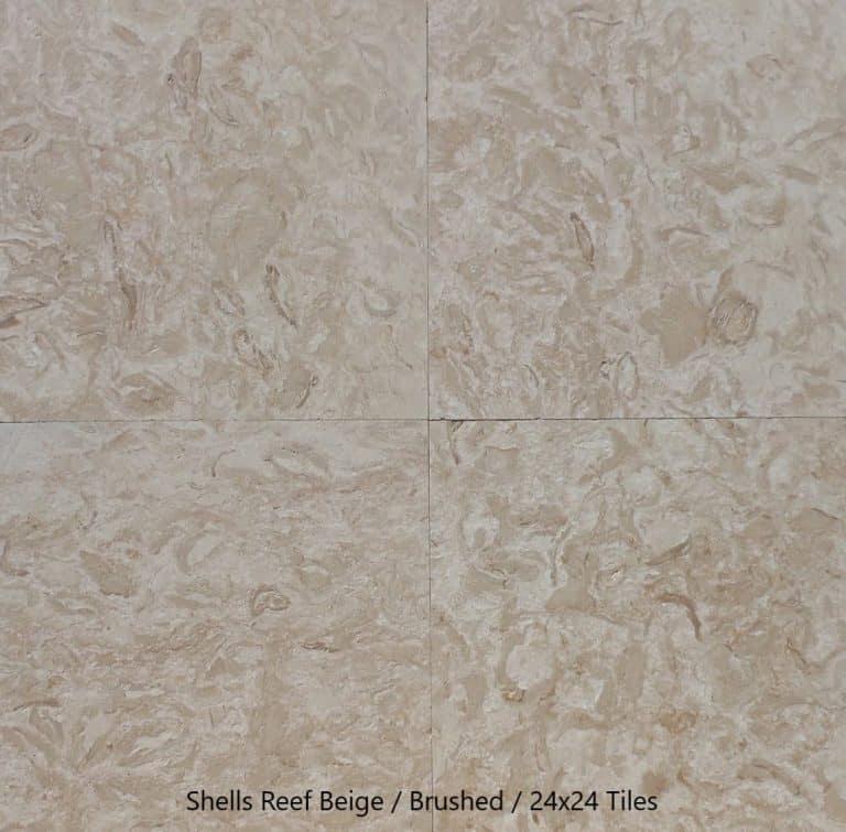 Shells Reef Beige, Brushed, 24x24 Tiles