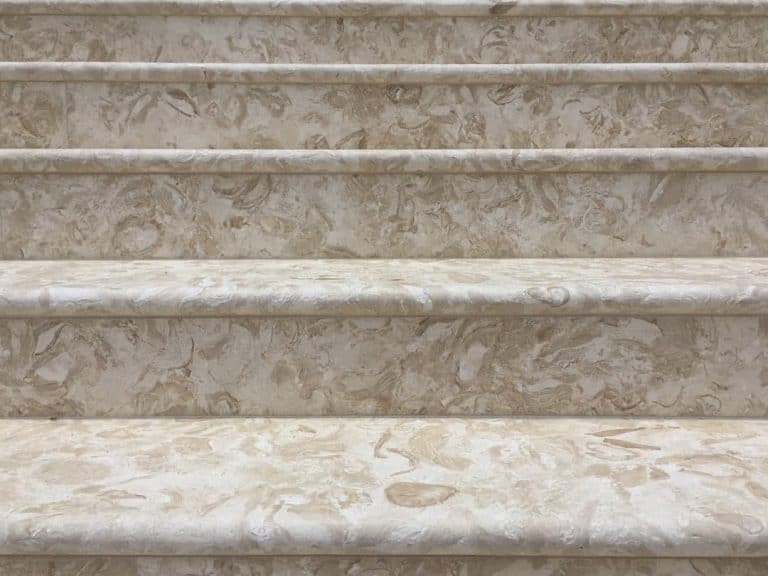 Shells Reef Beige Brushed Bullnose Stair Treads
