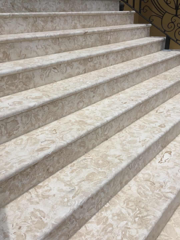Shells Reef Beige Brushed Stair Treads #2