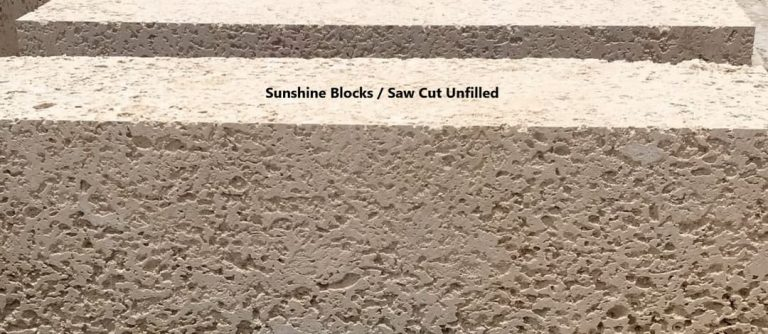 Sunshine Blocks, Saw Cut Unfilled
